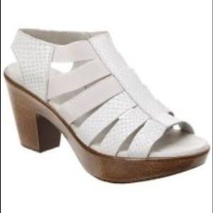 MUNRO Gray Cookie Leather Slingback Sandals 9.5